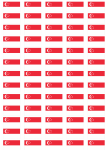 Singapore Flag Stickers - 65 per sheet